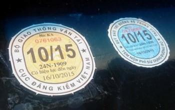 Nộp phí sử dụng đường bộ qua tem kiểm định