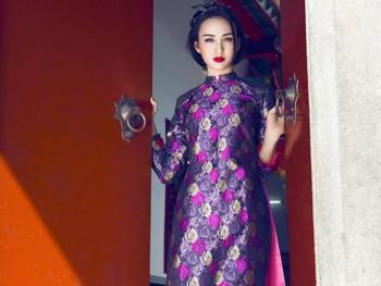Áo dài gấm - xu hướng xuân 2016 của người đẹp Việt