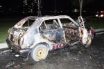Honda Civic bốc cháy khi đang chạy