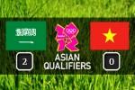 Olympic Việt Nam thất thủ 0-2 trước Olympic Arab Saudi