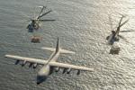 Cận cảnh trực thăng Mỹ tiếp nhiên liệu trên không