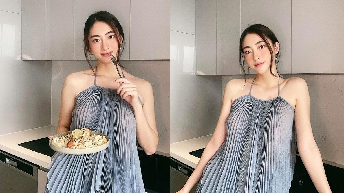 Lương Thùy Linh diện váy mong manh khoe vẻ đẹp kiêu sa