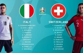 Euro 2020: Xem trực tiếp Ý vs Thụy sỹ ở đâu?