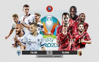 Link xem trực tiếp Phần Lan vs Bỉ (vòng 3 Euro 2020), 02h00 ngày 22/6