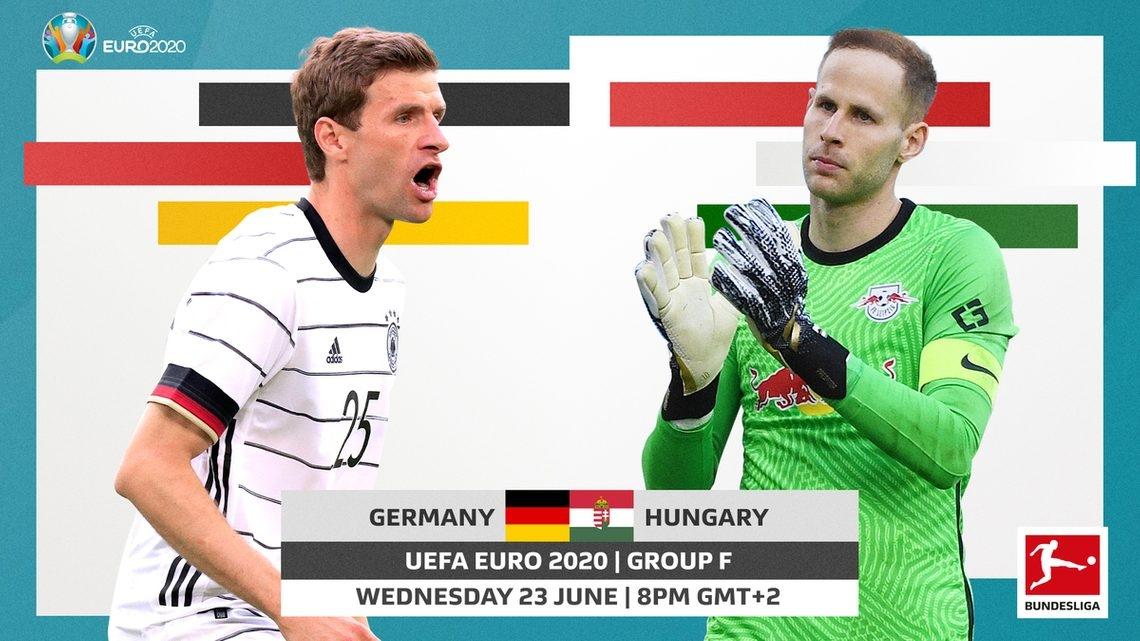 Link xem trực tiếp Đức vs Hungary (vòng 3 Euro 2020), 02h00 ngày 24/6