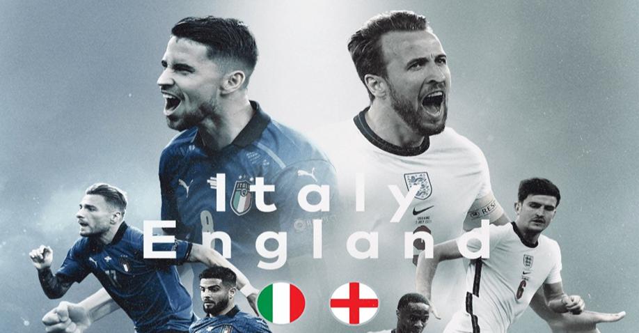 Euro 2020: Xem trực tiếp chung kết Anh vs Ý ở đâu?
