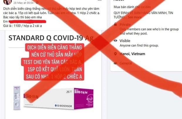 Người dân không nên tự ý mua bộ test nhanh Covid-19