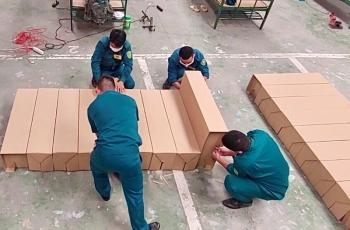 TP HCM: Mô hình giường giấy gọn nhẹ, cơ động trong khu cách ly tập trung quận Bình Tân