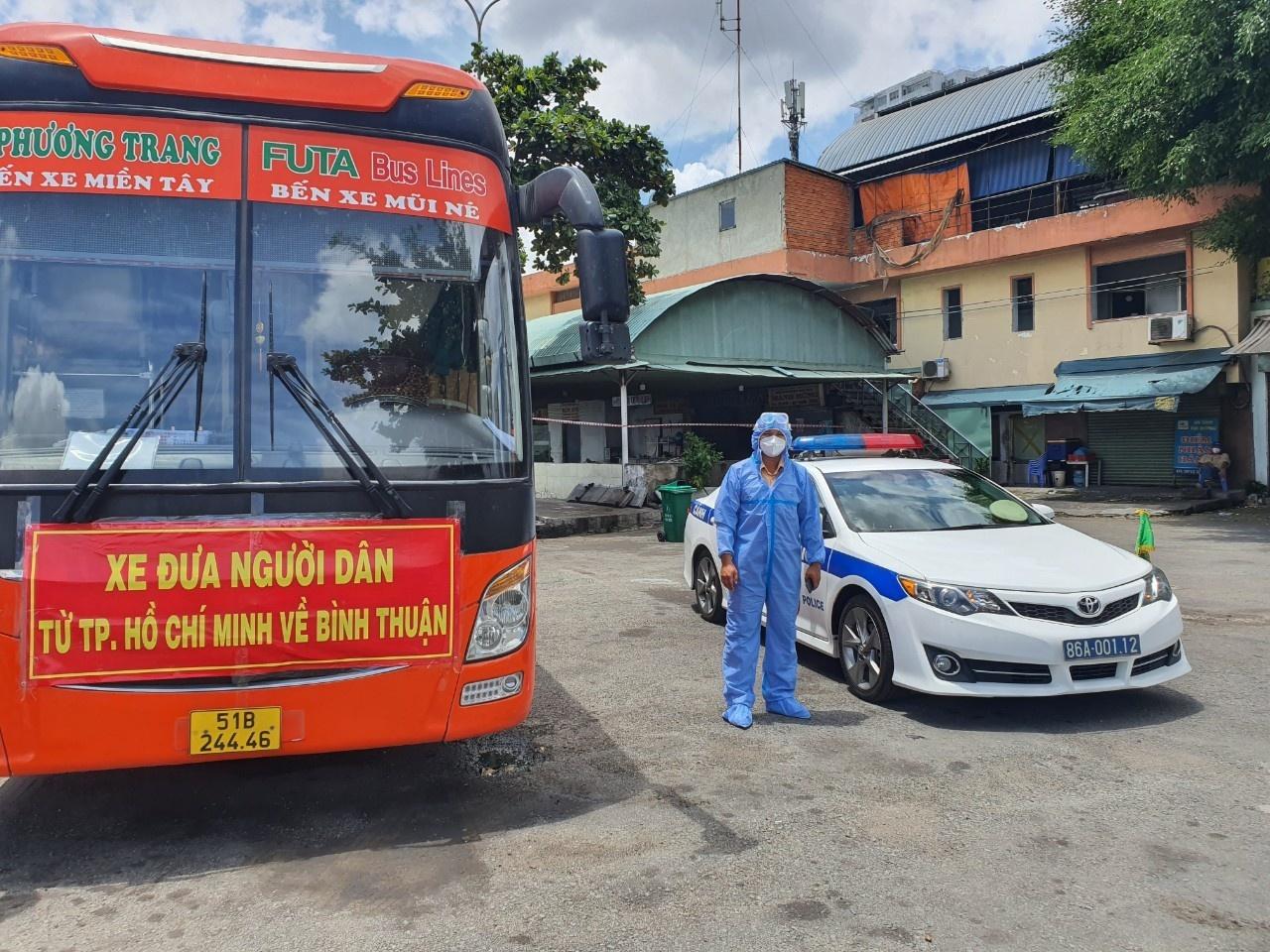 Bình Thuận: Đợt đầu tiên đưa 200 công dân về quê