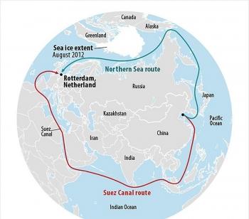 Hàng hóa được vận chuyển qua Tuyến đường biển phía Bắc của Nga không ngừng tăng trưởng