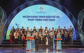 BIDV lần thứ 6 đạt danh hiệu Thương hiệu Quốc gia