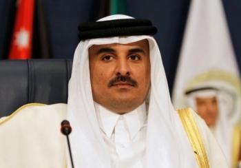 quoc vuong qatar thao luan voi chu tich exxonmobil
