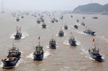 Đội tàu đánh bắt xa bờ của Trung Quốc làm cạn kiệt nguồn cá đại dương