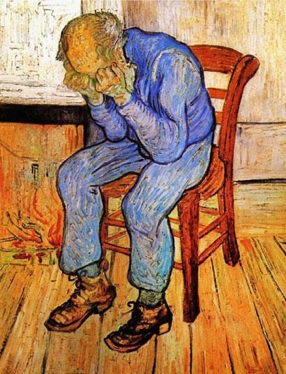 Người đàn ông đau khổ. Van Gogh.