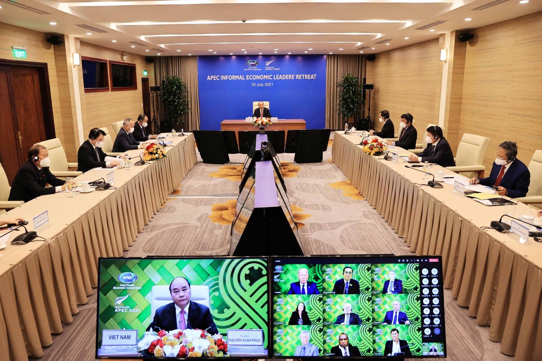 Cuộc họp các nhà lãnh đạo kinh tế APEC về ứng phó với đại dịch Covid và đẩy nhanh phục hồi kinh tế