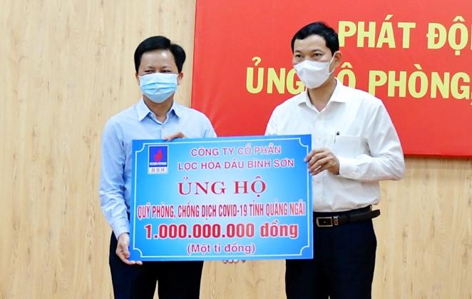 BSR ủng hộ 1 tỷ đồng cho Quỹ phòng, chống dịch Covid-19 tỉnh Quảng Ngãi
