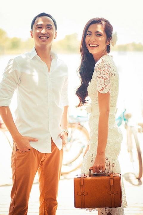 Tăng Thanh Hà đẹp rạng rỡ trong bộ áo cưới