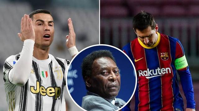 C.Ronaldo, Messi vượt qua Vua bóng đá Pele: Sóng sau xô sóng trước... - 1