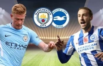 Link xem trực tiếp Man City vs Brighton (Ngoại hạng Anh), 1h ngày 14/1