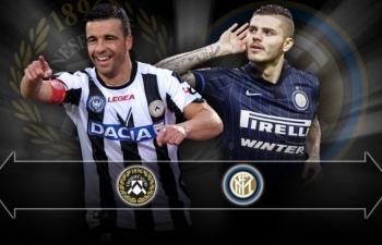Xem trực tiếp Udinese vs Inter ở đâu?