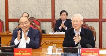 Tổng Bí thư chủ trì phiên họp đầu tiên của Bộ Chính trị khóa XIII