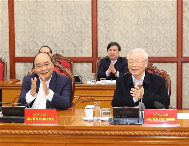 Tổng Bí thư chủ trì phiên họp đầu tiên của Bộ Chính trị khóa XIII - 3