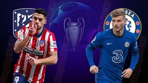 Link xem trực tiếp Atletico Madrid vs Chelsea (Cup C1 Châu Âu), 3h ngày 24/2