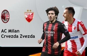 Xem trực tiếp AC Milan vs Crvena Zvezda ở đâu?