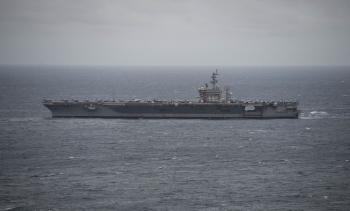 Nhóm tàu sân bay Mỹ tiến vào Địa Trung Hải