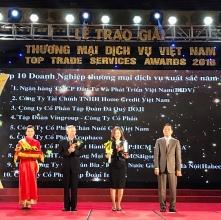 bidv dung thu nhat trong top 10 doanh nghiep thuong mai dich vu xuat sac