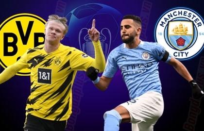 Xem trực tiếp Dortmund vs Man City ở đâu?