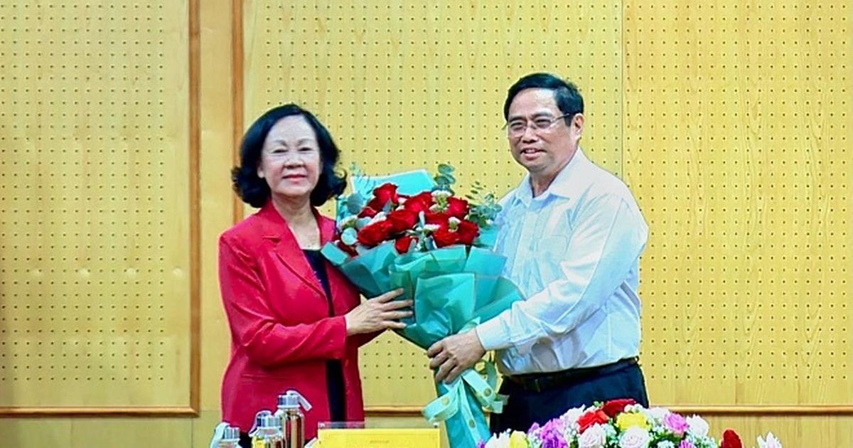 Thủ tướng vui mừng khi lần đầu tiên có nữ Trưởng Ban Tổ chức Trung ương