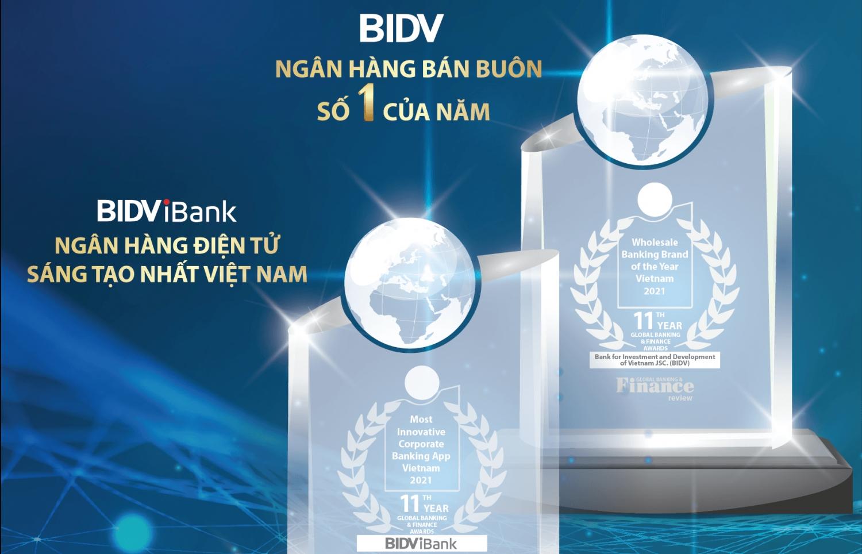 BIDV nhận 02 giải thưởng quốc tế trong hoạt động Ngân hàng bán buôn
