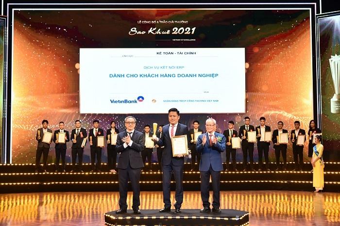 VietinBank xuất sắc giật 3 giải thưởng tại Sao Khuê năm 2021
