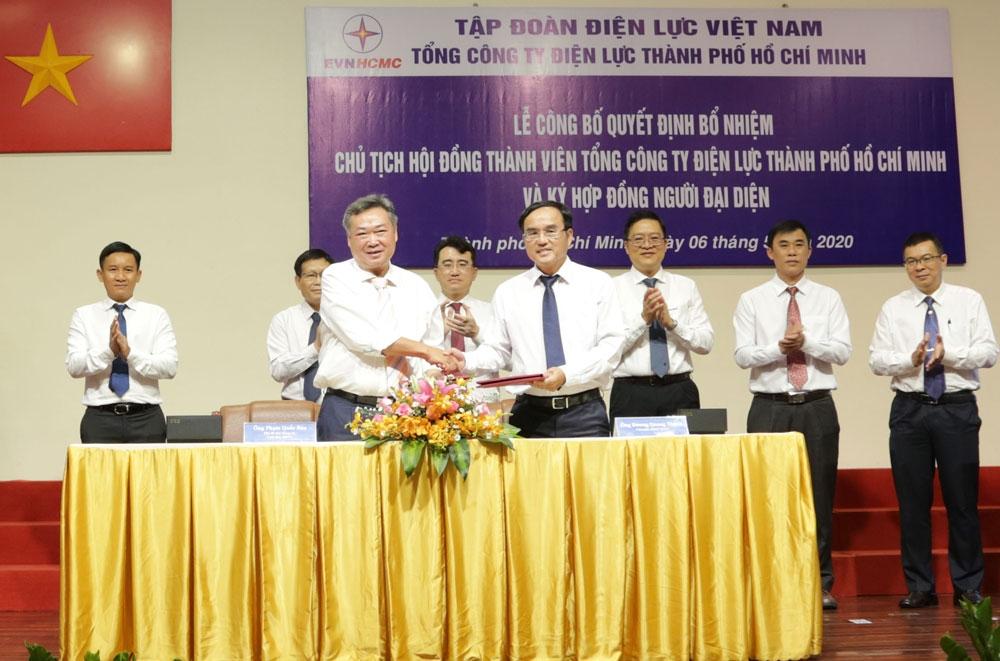 Công bố quyết định bổ nhiệm Chủ tịch HĐTV Tổng công ty Điện lực TP Hồ Chí Minh
