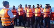 Tàu Cảnh sát biển 9003 bầu cử sớm giữa biển
