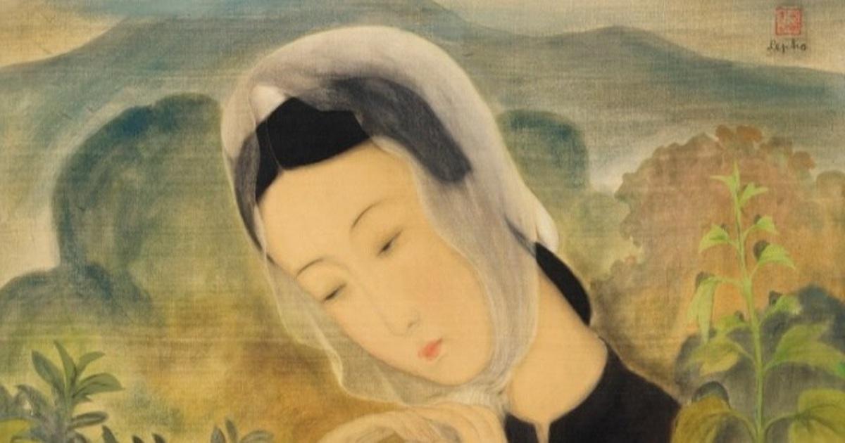 """""""Thiếu nữ choàng khăn"""" của Lê Phổ được kỳ vọng đạt mức giá 26 tỷ đồng"""