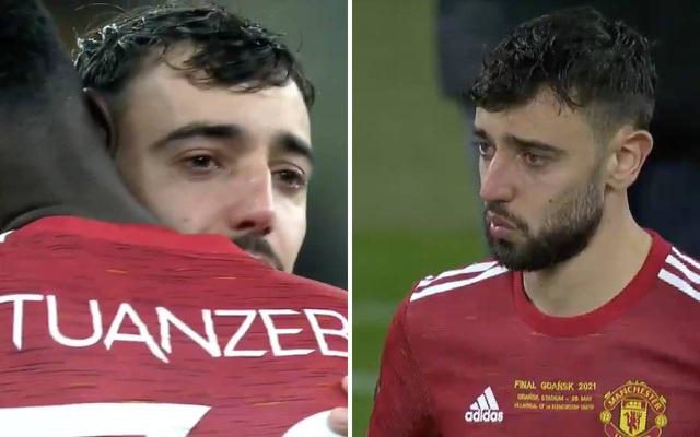 Bruno Fernandes khóc sau khi Man Utd thua ở chung kết Europa League - 1