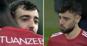 Bruno Fernandes khóc sau khi Man Utd thua ở chung kết Europa League