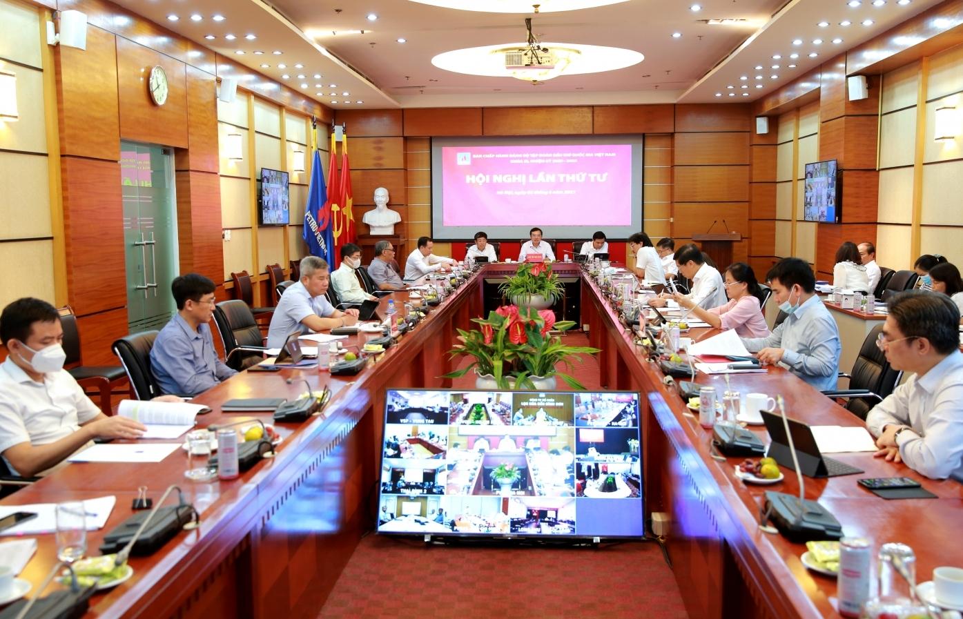 Đảng bộ Tập đoàn Dầu khí Quốc gia Việt Nam: Hội nghị Ban Chấp hành lần thứ 4, khóa III, nhiệm kỳ 2020-2025
