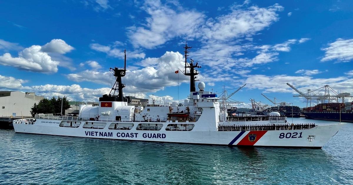 Tàu tuần duyên Mỹ chuyển cho Việt Nam khởi hành về nước