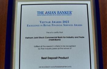 VietinBank được The Asian Banker vinh danh với 3 giải thưởng lớn