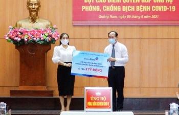 VietinBank hỗ trợ tỉnh Quảng Nam 2 tỷ đồng phòng chống, dịch COVID-19