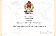 """VietinBank lần thứ 4 liên tiếp nhận giải thưởng """"Trung tâm Dịch vụ khách hàng dẫn đầu Việt Nam"""""""
