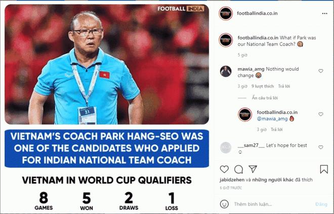 Báo Ấn Độ bất ngờ mong muốn HLV Park Hang Seo dẫn dắt đội tuyển quốc gia - 1