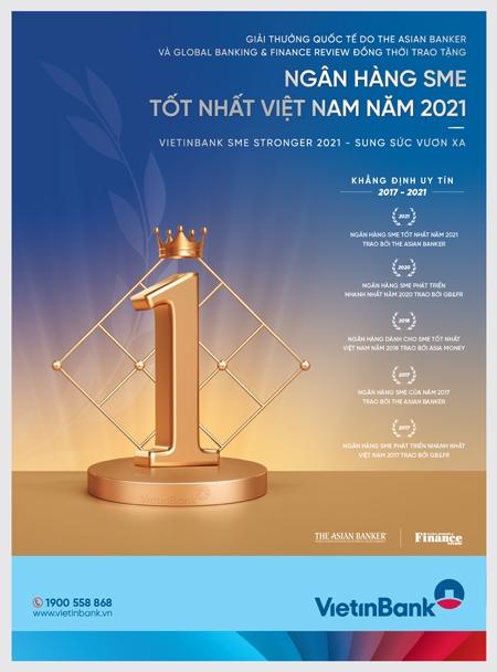 VietinBank - Ngân hàng SME tốt nhất Việt Nam