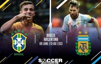 Trực tiếp Copa America: Xem trực tiếp Brazil vs Argentina ở đâu?
