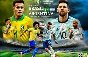 Link xem trực tiếp Brazil vs Argentina (Copa America), 7h30 ngày 3/7