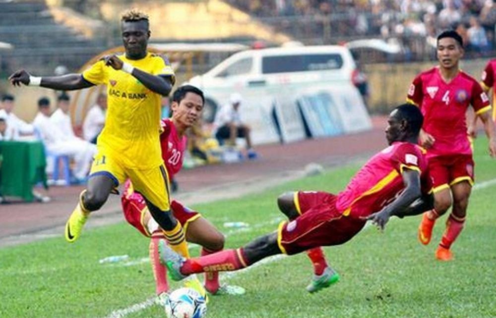 vong 16 v league 2019 xem truc tiep bong da song lam nghe an vs sai gon fc o dau