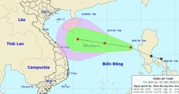 Vùng áp thấp đã vào Biển Đông, miền Bắc mưa to